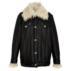 Zeynep Arcay Oversized Shearling Leather Jacket