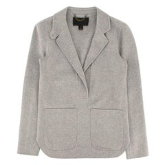 J.Crew grey double-faced cashmere jacket US 4