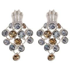 Simon Harrison Silver Dionysus Leopard Earrings