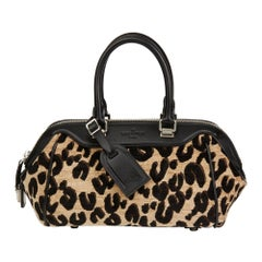 2012 Louis Vuitton Leopard Print Jacquard Velvet Stephen Sprouse Speedy 25