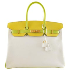 Hermès Candy Collection 35 cm Tri Color Epsom Horseshoe Birkin Bag 99b85abf07834