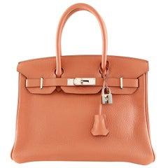 Hermès Rose Tea Togo 30 cm Birkin Bag