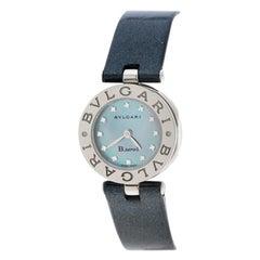 Bvlgari Grey Mother Of Pearl Diamond & Stainless Steel B.Zero1 Women's Wristwatc