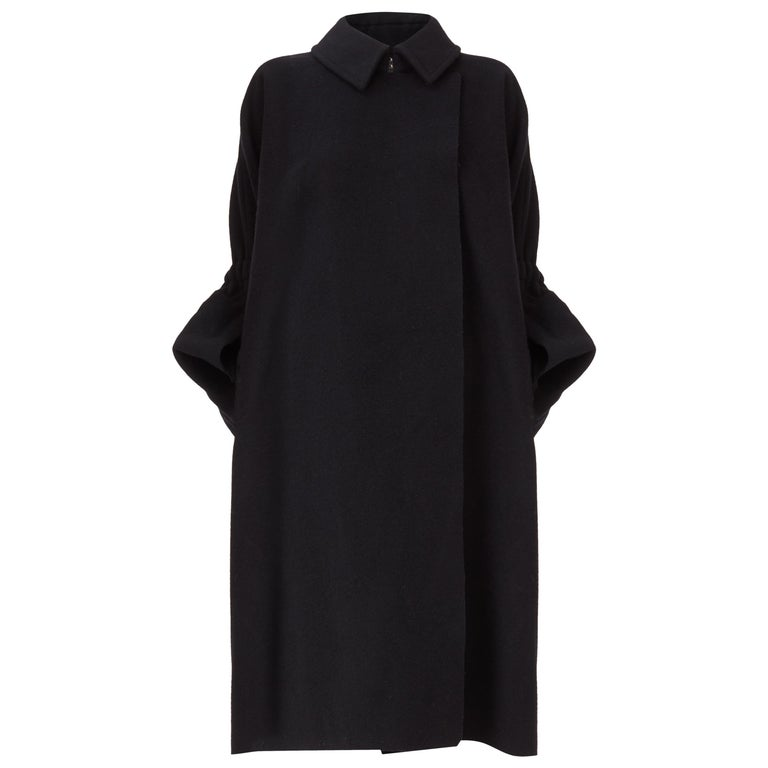 COMME des GARCONS, Black coat, circa 1995 For Sale