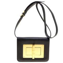 2da55d6cf05f Tom Ford Black Leather Small Natalia Crossbody Bag