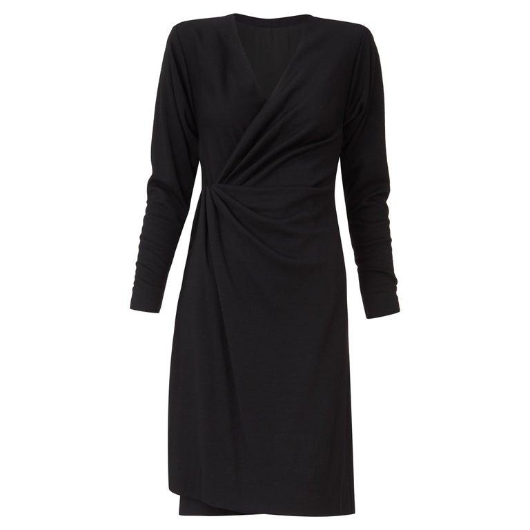 Yves Saint Laurent Haute Couture Dress black, Circa 1983 For Sale