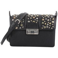 Lanvin Jiji Shoulder Bag Studded Leather Small