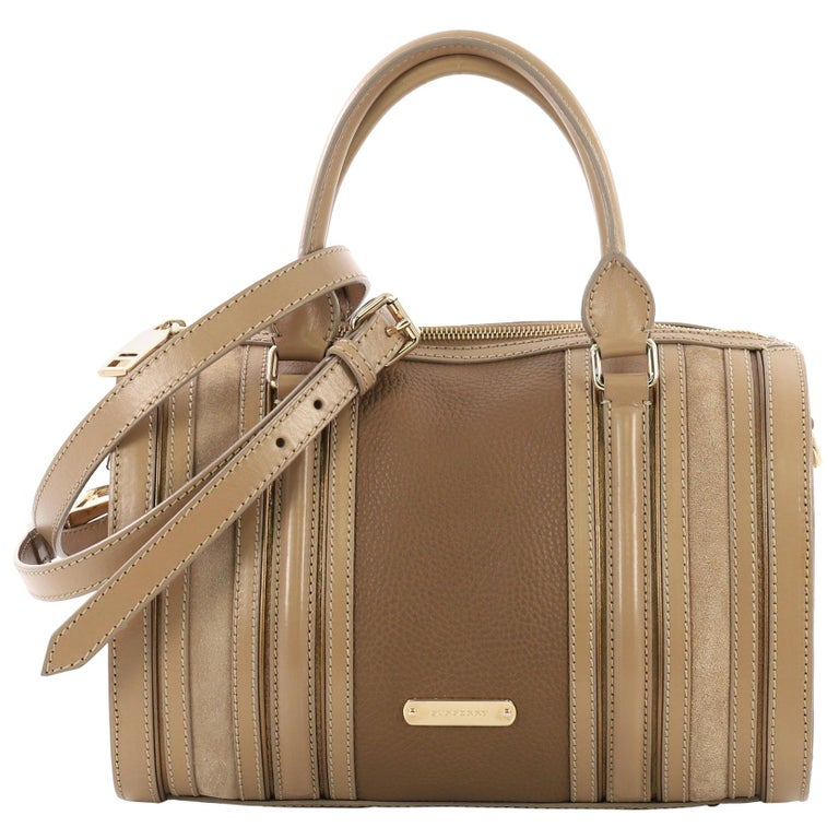 Burberry Alchester Bowling Bag Leather Medium For Sale at 1stdibs 023b68c9f0f45
