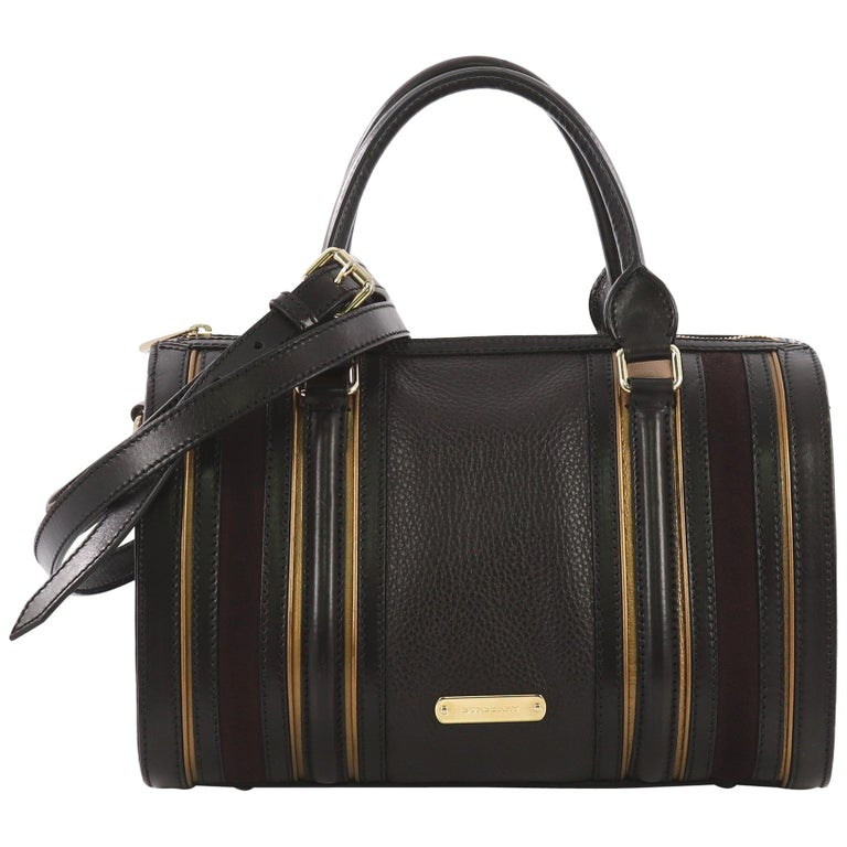 Burberry Alchester Bowling Bag Leather Medium For Sale