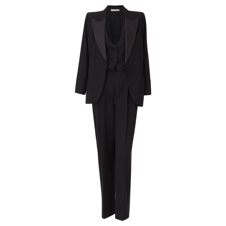 Yves Saint Laurent Haute Couture Spring/Summer 1991 Black Smoking  For Sale