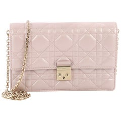 Christian Dior Miss Dior Promenade Wallet on Chain Cannage Quilt Iridescent