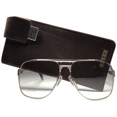 New Vintage Zeiss Gold Oversized Frame Changeable Lenses 1970's Sunglasses