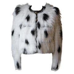 Balmain Raccoon Fur Cropped Jacket