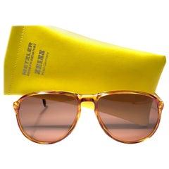 New Vintage Zeiss Tortoise Frame Brown Lenses 1970's Sunglasses