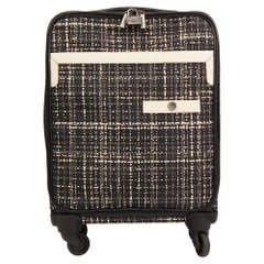 2016 Chanel Black Tweed & Caviar Leather Jacket Trolley Rolling Suitcase
