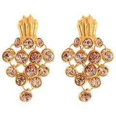 Simon Harrison Gold Dionysus Leopard Earrings