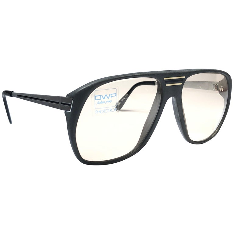 d0adee2b7d New Vintage OWP Oversized Frame Changeable Lenses 1970 Sunglasses For Sale