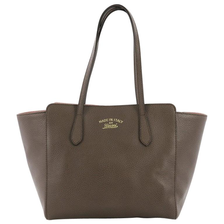 dca55a2c3a1129 Gucci Swing Tote Leather Small For Sale at 1stdibs