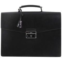 Prada Squeeze Lock Briefcase Leather