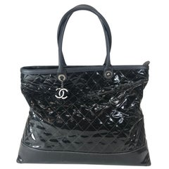 Chanel Leather-Trimmed Quilted Tote