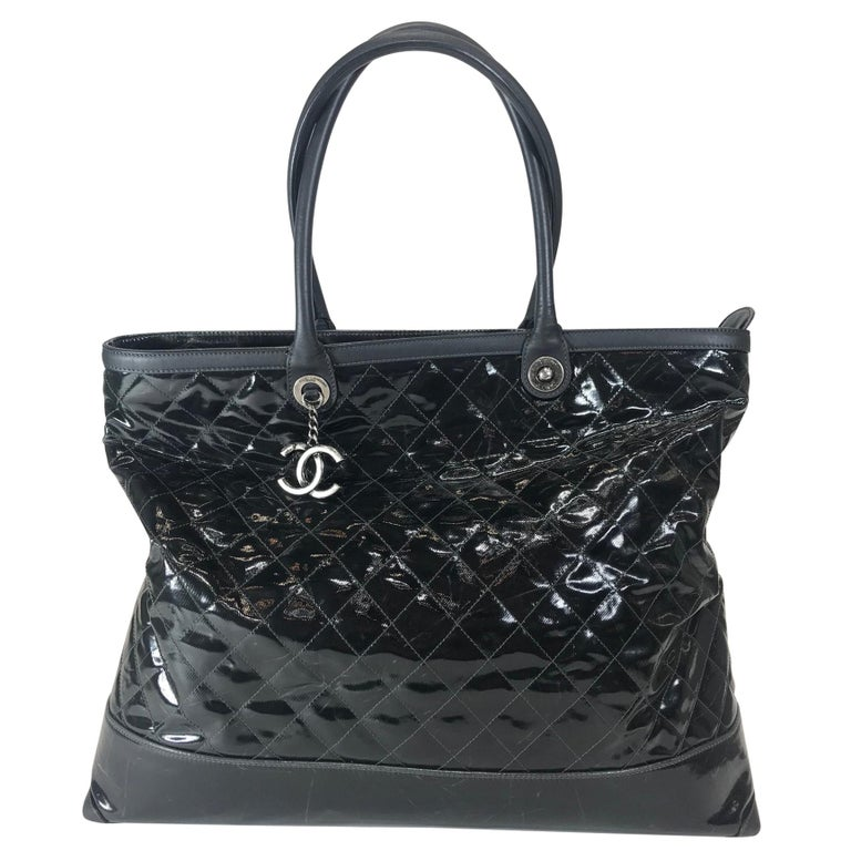 Chanel Leather-Trimmed Quilted Tote For Sale