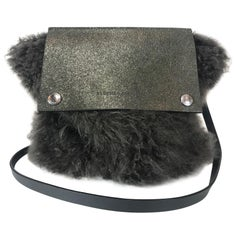 Brunello Cucinelli Shearling Crossbody Bag