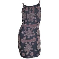 1990s Karl Lagerfeld Intricately Beaded Silk Dress