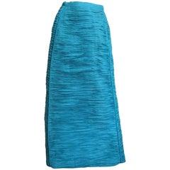 1960s Sybil Connolly Sculptural Linen Maxi Skirt