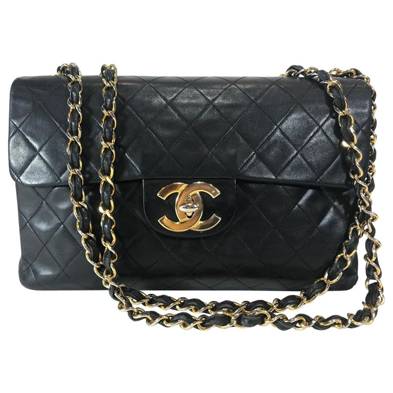 b57e85652448 Chanel Vintage Classic Maxi Single Flap Bag For Sale at 1stdibs
