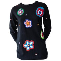 Moschino Couture Abstract Embroidered Sweater