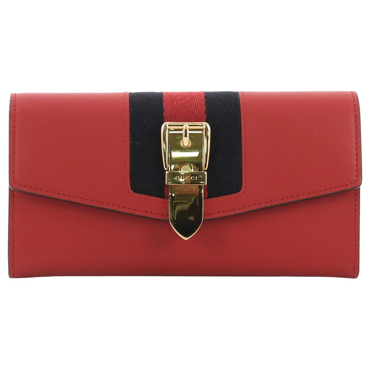 71dbf387865f3a Gucci Sylvie Continental Wallet Leather at 1stdibs