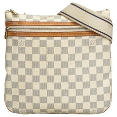 Louis Vuitton White Damier Azur Pochette Bosphore