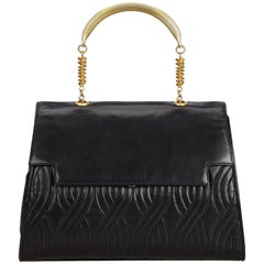 Fendi Black Leather Handbag