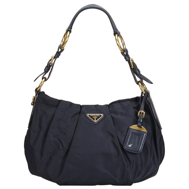 ad12c601299b7c Prada Blue Nylon Shoulder Bag at 1stdibs