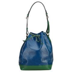 Louis Vuitton Blue Epi Bicolor Noe