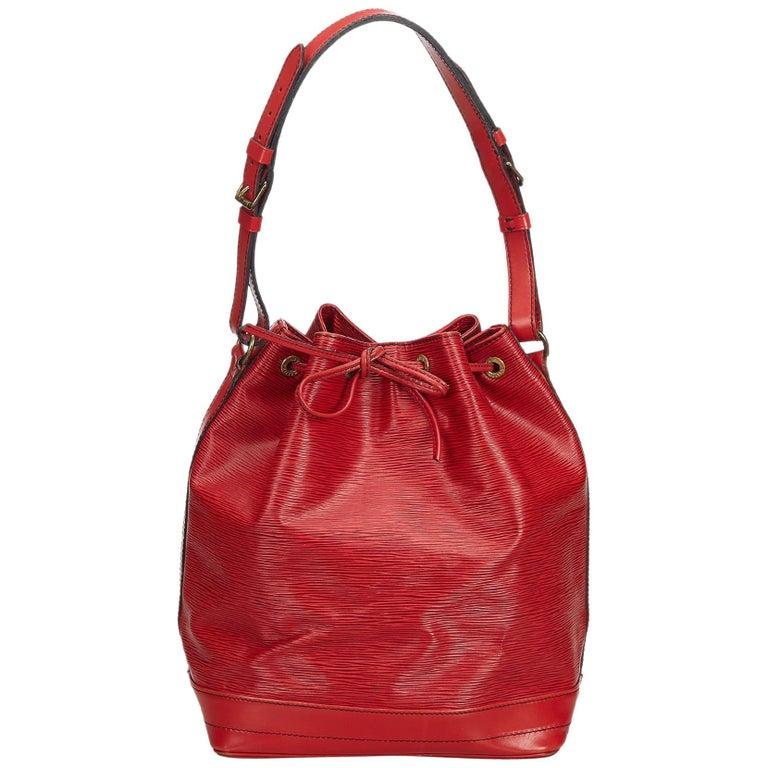 9ff14ddf35f1 Louis Vuitton Red Epi Noe at 1stdibs
