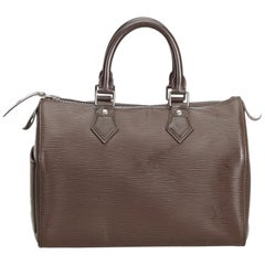 Louis Vuitton Brown Epi Speedy 25