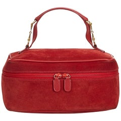 Gucci Red Leather Vanity Bag