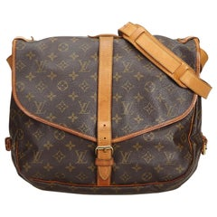 Louis Vuitton Brown Monogram Saumur 35