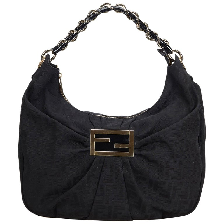 924c37fe4f4c Fendi Black Zucca Jacquard Mia Shoulder Bag at 1stdibs
