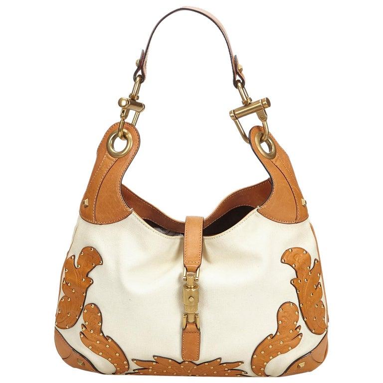 921c0d3979f Gucci White New Jackie Shoulder Handbag For Sale at 1stdibs