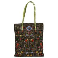 7014ba4234 Authentic FENDI Brown Metallic Leather BAG DE JOUR BAG Tote SATCHEL ...