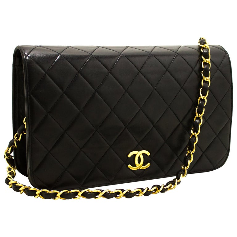 01180f826767 CHANEL Chain Shoulder Bag Black Clutch Flap Quilted Lambskin For Sale. An  authentic ...