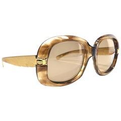 Rare Vintage Oliver Goldsmith Errebi Sides Oversized 1970 Sunglasses