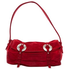 LAGERFELD GALLERY Small Bag in Red Suede