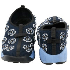 DIOR Fusion Sneakers By Raf Simmons in Dark Blue Canvas Size 38.5FR