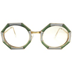 5ea72ff9bd2e Ultra Rare 1960 Christian Dior Enamelled Octagonal Collector Item Sunglasses
