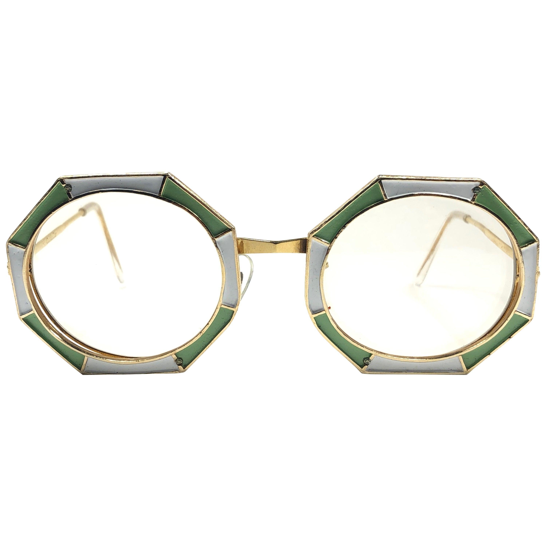 Ultra Rare 1960 Christian Dior Enamelled Octagonal Collector Item Sunglasses