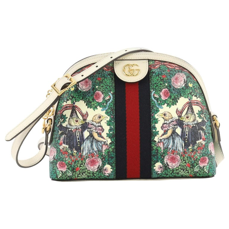 9a0423656aa7 Gucci Ophidia Dome Shoulder Bag Printed GG Coated Canvas Small For Sale