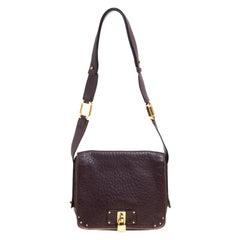 Marc Jacobs Dark Burgundy Leather Crossbody Bag